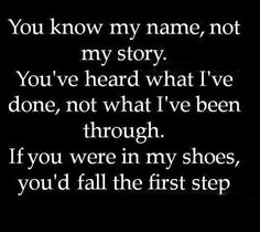 you know my name, not my story