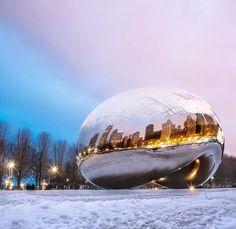 Chicago Art, Moon Child, Great Places, Sculpture Art, Cities, Buildings, Destinations, Places To Visit, Public