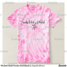 Wicked Child Voodoo Doll Black T-shirt #wickedchild #voodoodoll #wicked #voodoo #voodoodollpins
