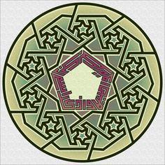 Khat kufi: Wadhkurrisma rabbika bukratan wa aṣhīlan by Lutfi Johari, via Flickr