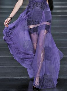 Christian Dior S/S 2009 Dress / robe / violet Luxury Lingerie, Vintage Lingerie, Seductive Lingerie, Purple Lingerie, Purple Gowns, Dolce E Gabbana, Frou Frou, Shades Of Purple, 50 Shades