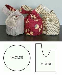 Instructions for spring bags - - essential oils - information and re . , Instructions for spring bags - - essential oils - information and re .- Instructions for spring bags - - essential oils - information and re… Instru. Fabric Crafts, Sewing Crafts, Sewing Projects, Bag Patterns To Sew, Sewing Patterns, Japanese Knot Bag, Japanese Bags, Diy Sac, Spring Bags