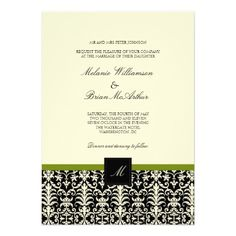 ReviewDamask Wedding Invitations in Black and Limeonline after you search a lot for where to buy