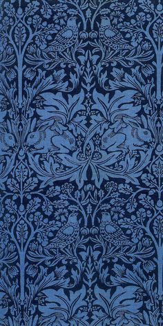 Brother Rabbit textile design by William Morris, produced by Morris & Co, 1882