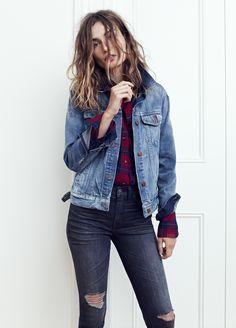 2306da90b7 madewell jean jacket worn with the 9