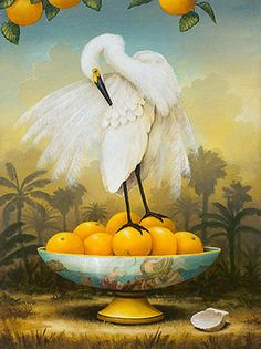 Floridiana ~ artist Kevin Sloan, c.2007; oil painting