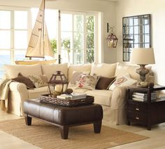 pottery+barn+couch | Pottery Barn Eco-Friendly PB Comfort Sectional Sofa Collection