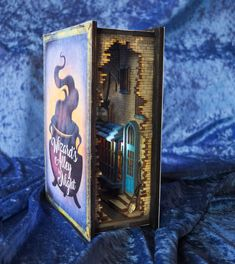 Wizard's Alley by Night Diorama Bookshelf Insert Book Lovers Gifts, Book Nooks, Fairy Houses, Fantasy World, Pick Up, Altered Art, Altered Tins, Bookshelves, Night Light