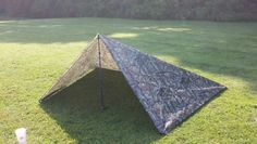 Tarp tent setup option 1