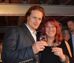 *NEW* More Fan Pics of Sam Heughan at The Laphroaig Live 200 Year Celebration   Outlander Online