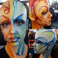 Cazcarra y los Carnavales #carnaval #maquillaje #makeup#caracterización