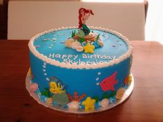 Ariel Birthday Cake. I know I'll be 22 this year, but this is what I want for my birthday