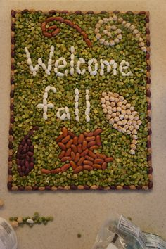 Let the child make mosaics for the different seasons to add art to your home
