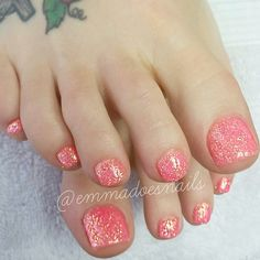 """Yay for glitter toes!!! #gel #gels #gelnails #glitternails #nails #nailz #nailswag #nailart #nailedit #nailgasm #nailporn #nailsofig #nailsofinstagram #nailsofinsta #instanails #ignails #nailtech #pinknails #hotpinknails #prettynails #cutenails #coralnails"" Photo taken by @emmadoesnails on Instagram, pinned via the InstaPin iOS App! http://www.instapinapp.com (01/16/2015)"