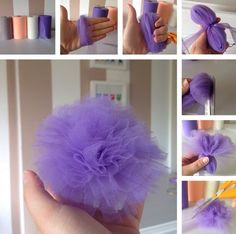 Some of my inspirations! Kids are naturally very creative creatures and enjoy crafting! Felt Flower headband&… crafts for teen girls 10 DIY gift ideas for girls Tulle Crafts, Pom Pom Crafts, Felt Flowers, Fabric Flowers, Tulle Flowers, Crafts For Teens, Diy And Crafts, Easy Crafts, Tulle Poms