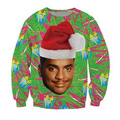 CHIC Women Men Funny Carlton Bel-Air Christmas Hoodies Sweatshirt ** Additional details @
