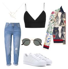 A fashion look from July 2017 featuring bomber jackets, ripped boyfriend jeans and white shoes. Browse and shop related looks. Ripped Boyfriend Jeans, White Shoes, Adidas Originals, Polyvore Fashion, Ray Bans, Bomber Jacket, Fashion Looks, Gucci, Shoe Bag