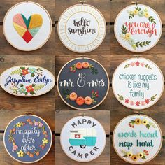 Bug and Bean Stitching. embroidery hoops