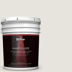 BEHR MARQUEE 5 gal. #PPU24-13 White Pepper Matte Exterior Paint