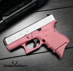 Glock 26 Gen 3 Pink / Stainless 9mm 10 RDS 3.46″ Handgun - Omaha Outdoors