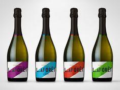 Sparkling Wine color block Label