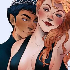 Rhys and Feyre by cccrystalclear