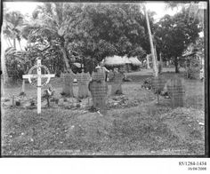 85/1284-1434 Photographic negative, American and British graves, H.M.S. Royalist and U.S.S. Philadelphia, gelatin / glass, photographer unknown, published by Kerry and Co., Upolu, Samoa, April - May, 1899 - Powerhouse Museum Collection