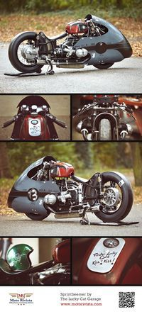 Sprintbeemer built by The Lucky Cat Garage ~ images by Daniel Beres ~ featured on Moto Rivista!