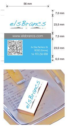 Propuesta Caja de Cerillas para Restaurante Els Brancs en Girona.