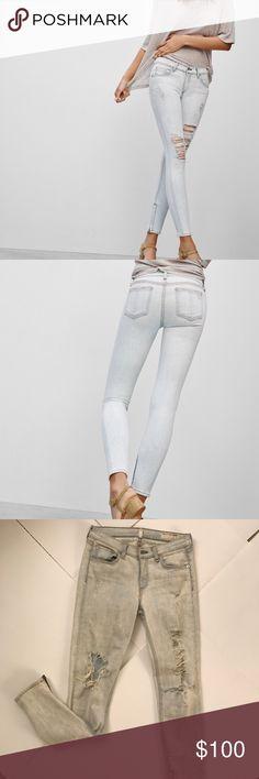 Rag and bone zipper capri jeans Rag and bone capri jeans. Bleached and stretchy denim. Wore 4-5 times. rag & bone Jeans Skinny