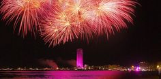 Fireworks over Cesenatico in Italy #photo
