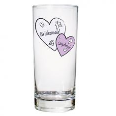 Butterfly Hearts Hi Ball Glass