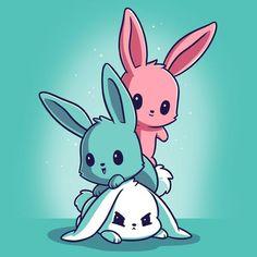 Fluffy Bunnies T-Shirt TeeTurtle easter bunny Cute Animal Drawings Kawaii, Kawaii Drawings, Cartoon Drawings, Cute Drawings, Bunny Drawing, Bunny Art, Cute Bunny, Kawaii Anime, Kawaii Art