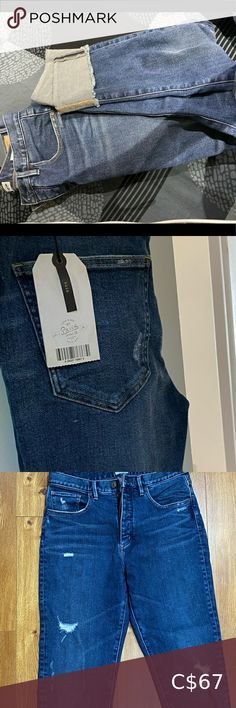 Silver jeans co. straight fits jeans New with tags  silver jeans co. Super high rise straight fit jeans W:28 L:26 Trendy fold at the bottom (can be unfolded as well) Offers always welcome ;) Silver Jeans Jeans