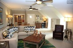Bonus room...  Not in love with the ceiling fans but the overall space is very nice.
