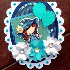 Lucy loves scrapping: All Dressed Up image girly handmade shaped oval card