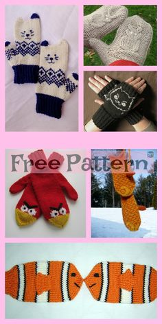 10+ Cute Knit Animal Mittens - Free Patterns  freeknittingpatterns  animal   mittens   4b7d2cbdb64