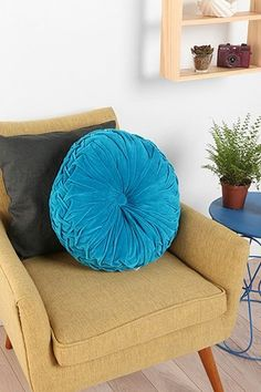 Round Pintuck Pillow from urban outfitters