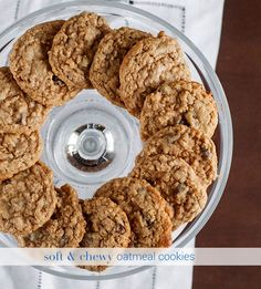 Soft & Chewy Oatmeal Cookies | the Hungry Hedgehog