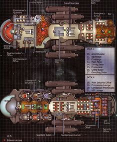 Firefly 'Verse Cruise Ship Schematic