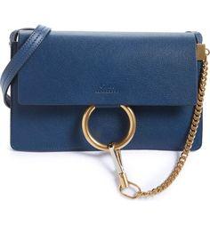 Chloe blue Faye leather crossbody bag