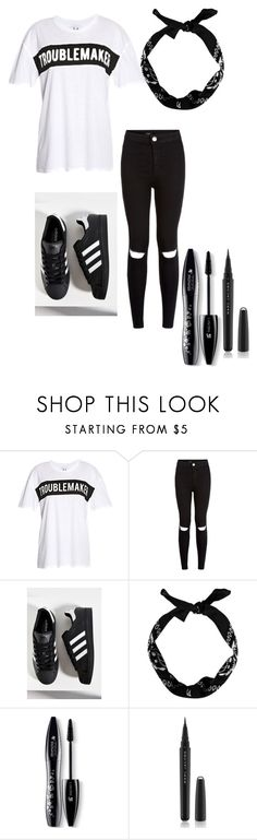 """Untitled #49"" by tumblr-g-14 ❤ liked on Polyvore featuring Zoe Karssen, New Look, adidas, Lancôme and Marc Jacobs"