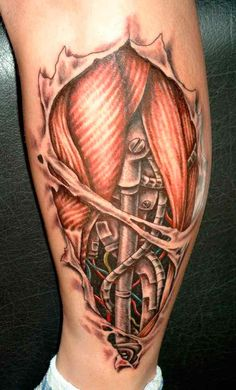 An incredible biomechanical tattoo that melds the human in you with a machine.