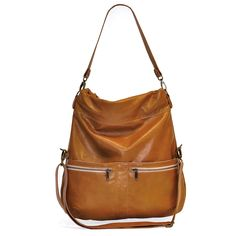 Lauren Large Size Convertible Crossbody in Brown Italian Leather *** Don't get left behind, see this great product
