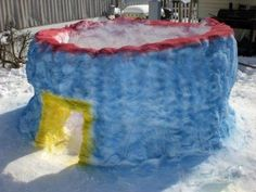 snow fort for the kid Snow Much Fun, Snow Fun, Winter Fun, Winter Time, Snow Forts, Snow Activities, Ice Art, Snow Sculptures, Build A Snowman