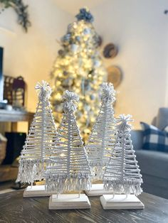 DIY Christmas decorations on a budget. These trees add a perfect touch Simple Christmas, Christmas Crafts, Christmas Decorations, Christmas Bows, Christmas Costumes, Christmas Stuff, Christmas Ornaments, Hobby Lobby, Bohemian Beach Decor