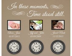 In These Moments Time Stood Still Wall Decal Vinyl Wall Art Decal