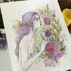She'll be up at the shop soon. I'll also be making prints of her. Audra Auclair, Animation, Wow Art, Pretty Art, Art Day, Manga, Art Forms, Bunt, Art Inspo