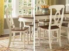 "A-America BRI-MB-2-85-K British Isles Napoleon Side Chair (Set of 2) by A-America. $116.60. A-America BRI-MB-2-85-K Features: -Napoleon chair. -Merlot and buttermilk finish. -Solid hardwood. -Two-tone chair merlot and buttermilk. -Overall Dimensions: 39"" H x 19.75"" W x 15.75"" D."