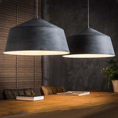 Hanglamp 'Audie' 2-lamps 55cm, betonlook